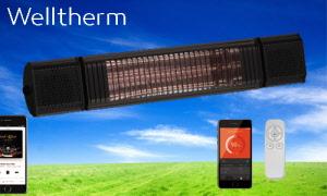 WT-SB0010A - ZWART Welltherm Stream en Beam Heater in Zwarte uitvoering