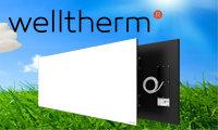 WT-WS1725 Welltherm Frameless Satin wit glaspaneel 1725W