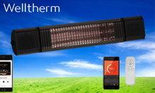WT-SB0010A - ZILVER Welltherm Stream en Beam heater in Zilverkleurige uitvoering
